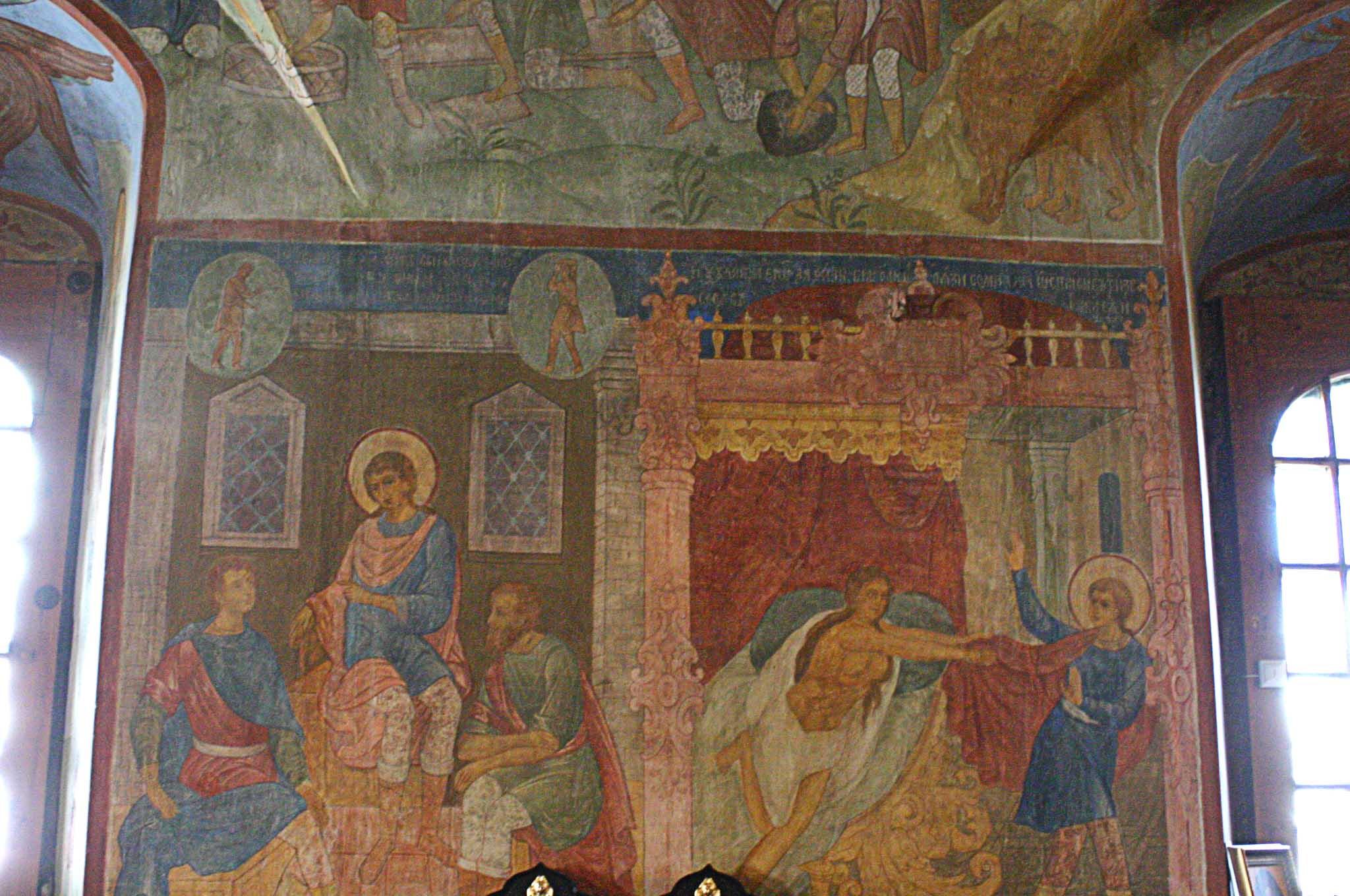 Создание фресковой росписи троицкого собора троице-сергиева монастыря